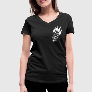 Animal Liberation LIVE AND LET LIVE (white) - Frauen Bio-T-Shirt mit V-Ausschnitt von Stanley & Stella