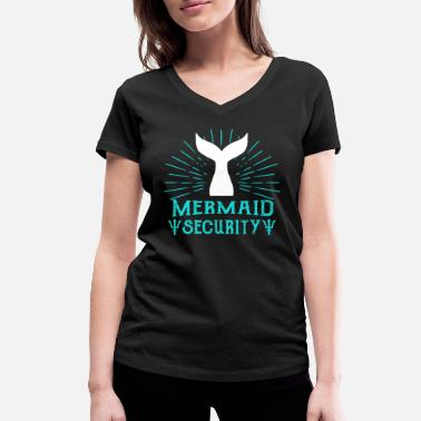 Merman Mermaid security Lifeguard Swimming Teacher Merman - Women's Organic V-Neck T-Shirt by Stanley & Stella