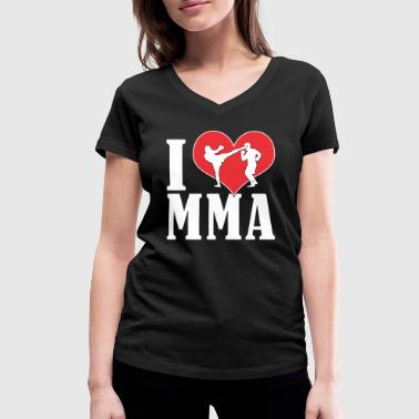 I Love Mma I LOVE MMA T-shirt for MMA athletes - gift idea - Women's Organic V-Neck T-Shirt by Stanley & Stella