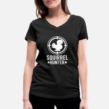 Chasing Chasing squirrels - Women's Organic V-Neck T-Shirt by Stanley & Stella