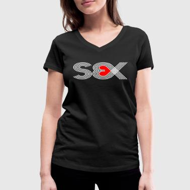 Sex (Red Heart Edition) - Women's Organic V-Neck T-Shirt by Stanley & Stella