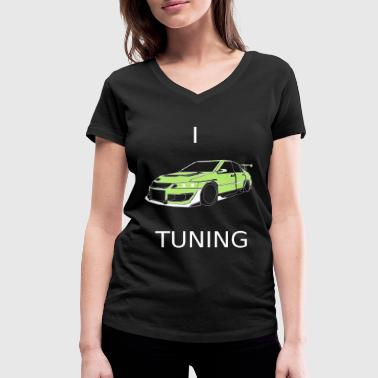 I Lova Car Tuning - Women's Organic V-Neck T-Shirt by Stanley & Stella