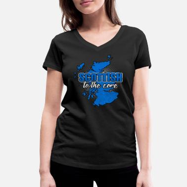 National Colours Scotland nation Edinburgh nation nationality - Women's Organic V-Neck T-Shirt