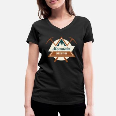 Mountain Sports Mountains mountaineering mountain sports - Women's Organic V-Neck T-Shirt by Stanley & Stella