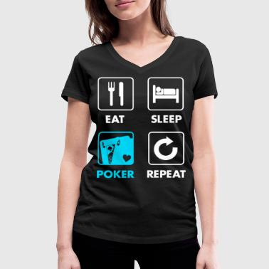 Gift Card Poker Gambling Card Game Cards Gift - Women's Organic V-Neck T-Shirt by Stanley & Stella