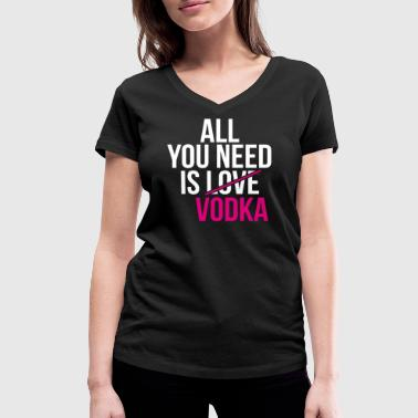 Vodka, vodka, - Women's Organic V-Neck T-Shirt by Stanley & Stella