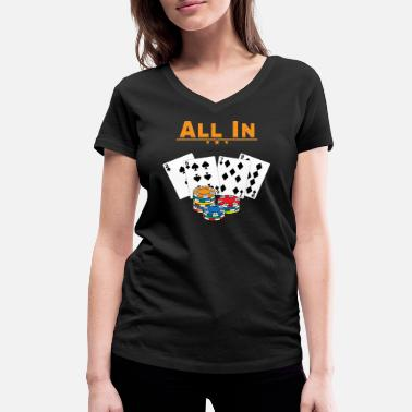 All In Poker - All In - Gift - Økologisk Stanley & Stella T-shirt med V-udskæring til damer