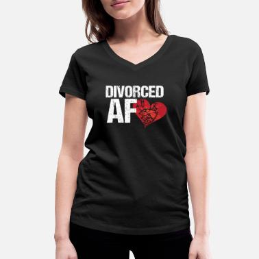 Divorce Party Finally divorced! Divorce divorce party - Women's Organic V-Neck T-Shirt by Stanley & Stella