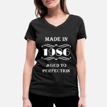 1986 Made in 1986 - Women's Organic V-Neck T-Shirt by Stanley & Stella
