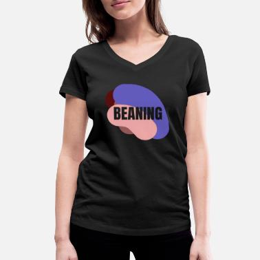 Bean Monster Beaning bean gift idea - Women's Organic V-Neck T-Shirt by Stanley & Stella