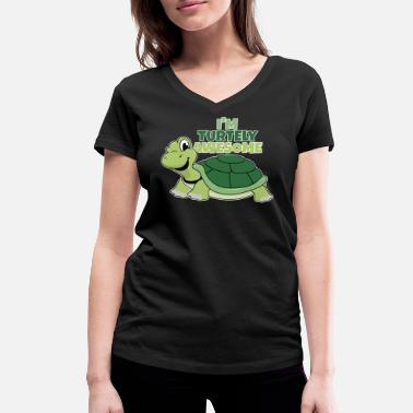 Tortues Tortue Je suis Tortue Tortue géniale - T-shirt bio col V Stanley & Stella Femme