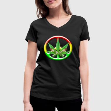 3D CND Rasta Spliffs - Women's Organic V-Neck T-Shirt by Stanley & Stella