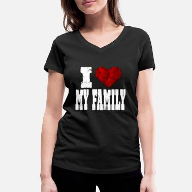 Rubin i love my family - Women's Organic V-Neck T-Shirt by Stanley & Stella