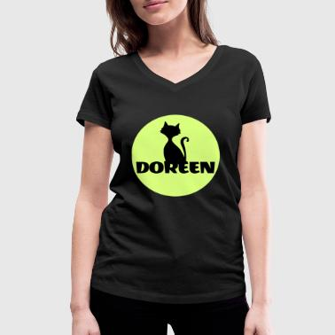 Name Surname Doreen Surname First name - Women's Organic V-Neck T-Shirt by Stanley & Stella