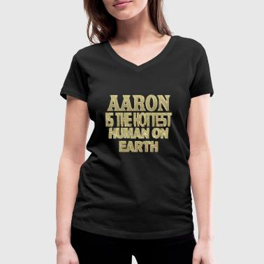 Aaron - Women's Organic V-Neck T-Shirt by Stanley & Stella