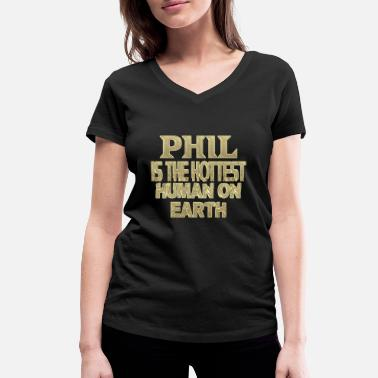 Phil Phil - Women's Organic V-Neck T-Shirt by Stanley & Stella
