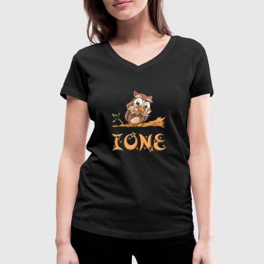 Owl Ione - Women's Organic V-Neck T-Shirt by Stanley & Stella