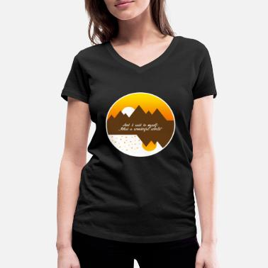 What What a wonderful world - Women's Organic V-Neck T-Shirt