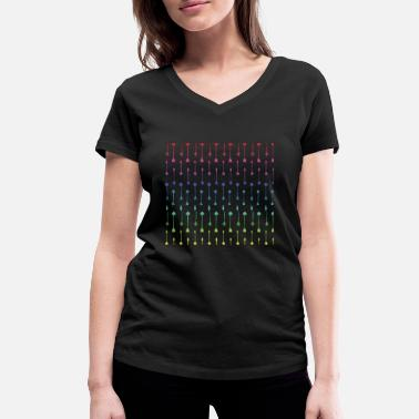 Bright Colors Arrows in bright colors - Women's Organic V-Neck T-Shirt by Stanley & Stella