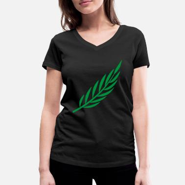 Laurel Laurel branch - Women's Organic V-Neck T-Shirt