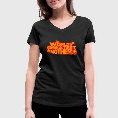 WORLD'S GREATEST MOTHER FUCKER - Women's Organic V-Neck T-Shirt by Stanley & Stella