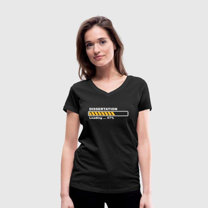 Dissertation - loading - Women's Organic V-Neck T-Shirt by Stanley & Stella