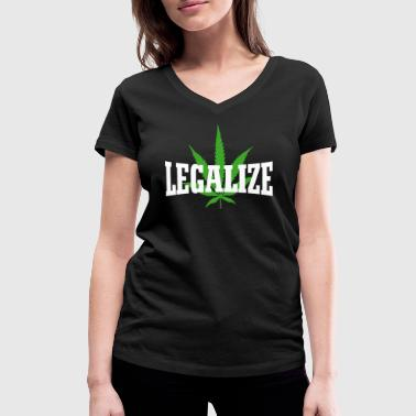 Legal Legalize - Women's Organic V-Neck T-Shirt by Stanley & Stella