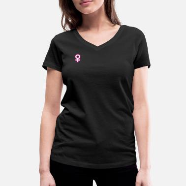Venus Symbol Venus symbol sign of femininity - Women's Organic V-Neck T-Shirt by Stanley & Stella