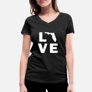 Love Florida Love Florida - Women's Organic V-Neck T-Shirt by Stanley & Stella