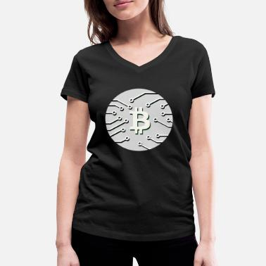 Covetousness Bitcoin BTC cryptocurrency gift idea nerd - Women's Organic V-Neck T-Shirt by Stanley & Stella