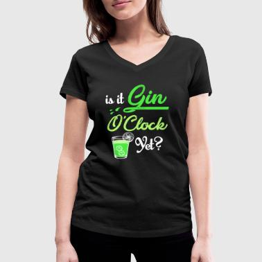 Gin Queen Is it gin o'clock yet? | Is it gin clock? - Women's Organic V-Neck T-Shirt by Stanley & Stella