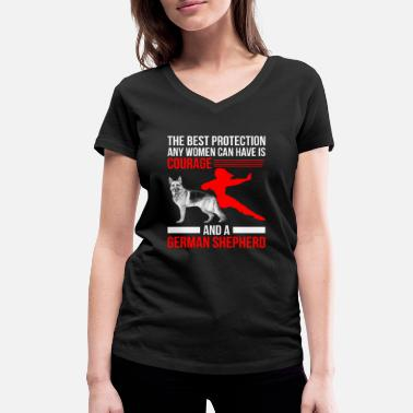 German German Shepherd - German Shepherd - Poison - Women's Organic V-Neck T-Shirt