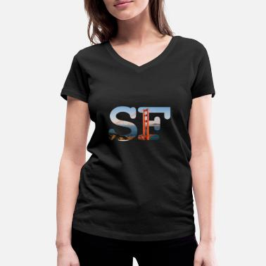 Francisco San Francisco - Women's Organic V-Neck T-Shirt by Stanley & Stella