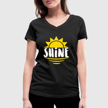 Ray Of Light Shine - lights, rays - Women's Organic V-Neck T-Shirt by Stanley & Stella