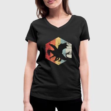 A Knights Tale Dragon Fairy Tale Flying Warrior Knight Gift - Women's Organic V-Neck T-Shirt by Stanley & Stella