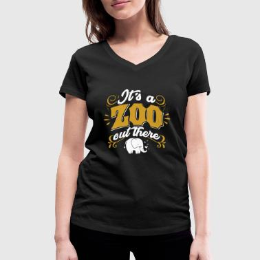 Zoo Zoo Zoologie animale Zoo Gardien des animaux - T-shirt bio col V Stanley & Stella Femme