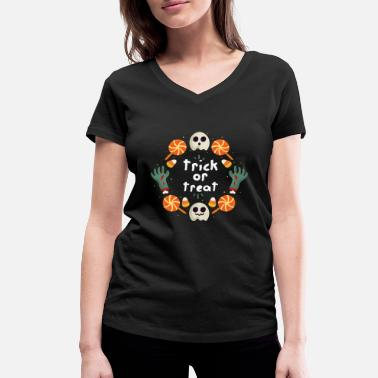 Trick Or Treat Trick or Treat / Trick or Treat - Ekologisk T-shirt med V-ringning dam