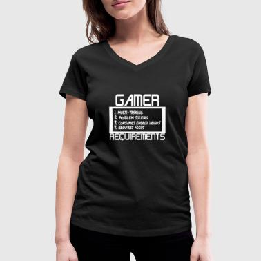 Gamer Requirements - Women's Organic V-Neck T-Shirt by Stanley & Stella