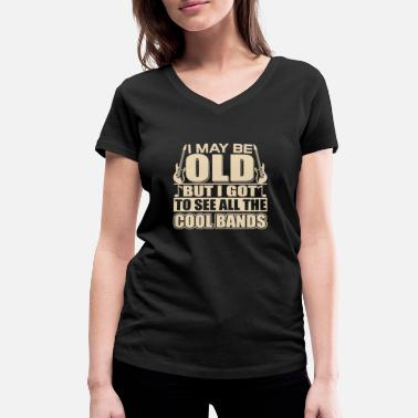 Alternative Cadeau Older Rocker - OLD ROCKER - T-shirt bio col V Stanley & Stella Femme