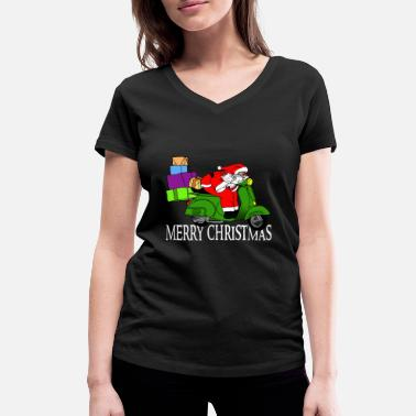 Hurry Santa Claus is in a hurry - Women's Organic V-Neck T-Shirt by Stanley & Stella