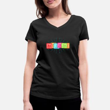 Big Bang Theory BaZNGA! Periodic Table Big Bang Theory - Women's Organic V-Neck T-Shirt by Stanley & Stella