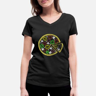 Godly Pizza Design Shirt Tee most delicious godly food o - Women's Organic V-Neck T-Shirt by Stanley & Stella