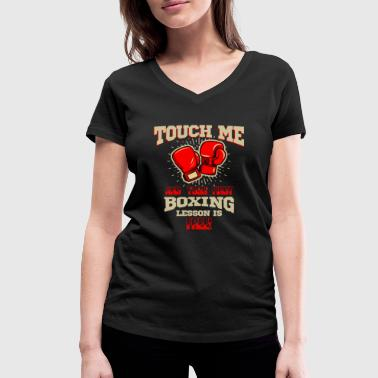 First Lesson Free Your first boxing lessons are free - Women's Organic V-Neck T-Shirt by Stanley & Stella