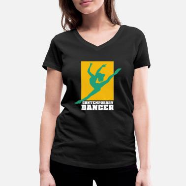 Contemporary Dance Contemporary dance - Women's Organic V-Neck T-Shirt by Stanley & Stella