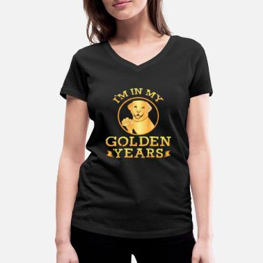 Golden Retriever Golden Retrievers Dog Lovers - In My Years Funny - Women's Organic V-Neck T-Shirt