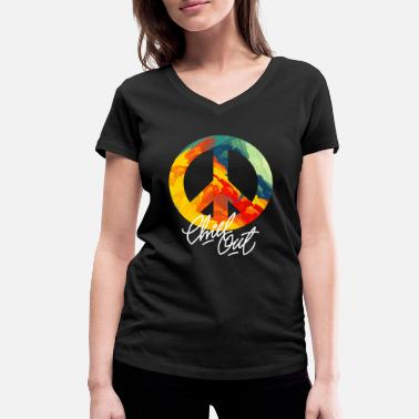 Peace Off Peace Chill Out - T-shirt bio col V Stanley & Stella Femme