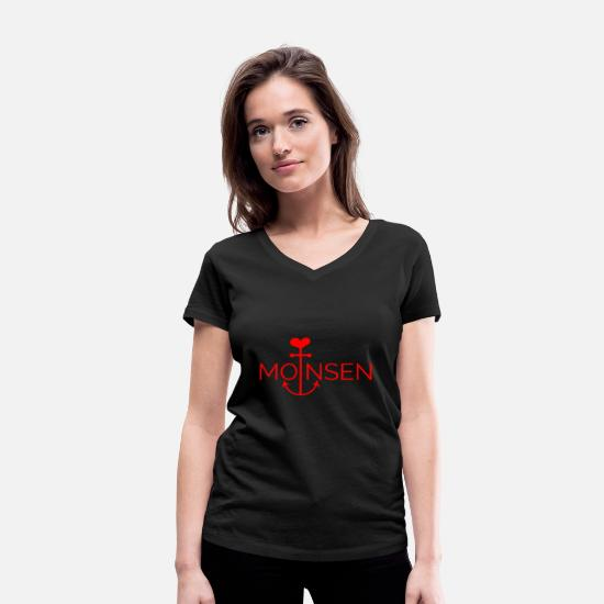 Sand T-Shirts - Baltic sea sea beach - Women's Organic V-Neck T-Shirt black