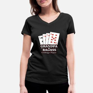 Cribbage Cribbage T Shirt Gift for Cribbage Card Players - Women's Organic V-Neck T-Shirt by Stanley & Stella
