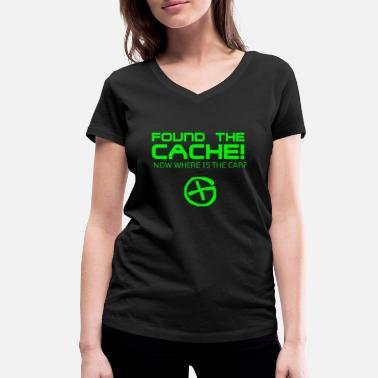 Caching Found The Cach - Women's Organic V-Neck T-Shirt