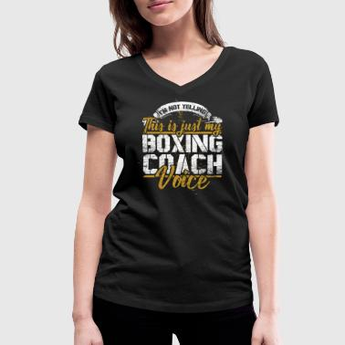 Boxing Sport Boxing Training Coach Sport - Women's Organic V-Neck T-Shirt by Stanley & Stella